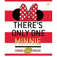 А5/12 линия YES глиттер+фольга золото+софт-тач Minnie Mouse gold, тетрадь (упаковка 10 штук)