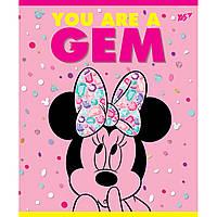 А5/12 линия YES неон+мат. ламинация+софт-тач Minnie Mouse neon, тетрадь (упаковка 10 штук)