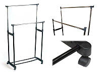 Вешалка стойка для одежды двойная  PROзапас