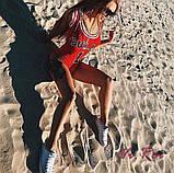 Женский Купальник слитный красный, фото 2