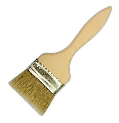 Кисть флейцевая, деревянная ручка, 85 мм, Украина (00-108) шт., фото 2