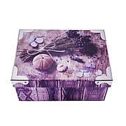 Шкатулка картонная с ручками, набор 4 шт., с металлическими углами, лаванда