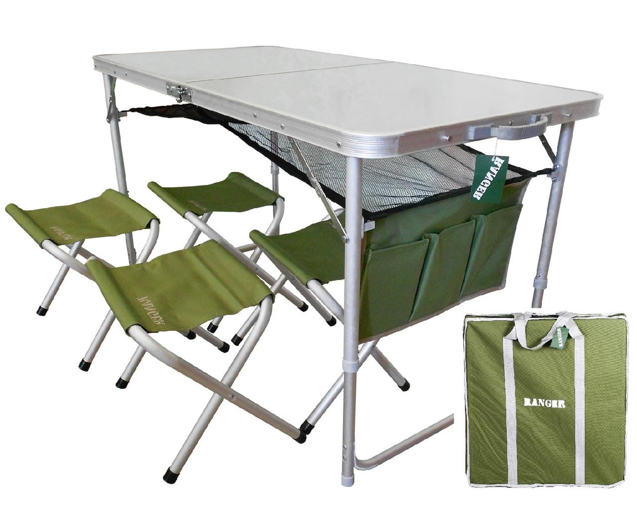 Комплект мебели складной Ranger ТА-21407+ 4 стульчика FS21124