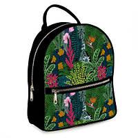 Рюкзак 3D міський чорний Тропічний