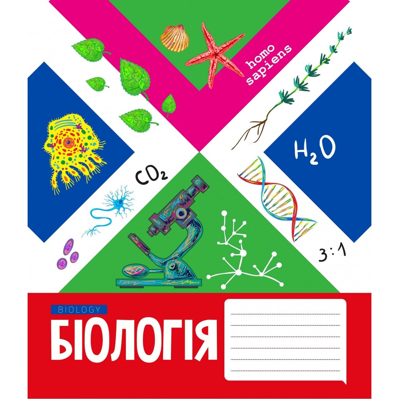 А5/48 клетка YES ПРЕДМЕТКА - БИОЛОГИЯ (Mosaic) тетрадь ученическая