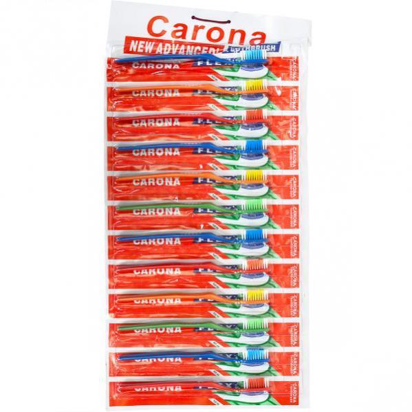 Зубные щётки «CARONA» 18,5 см на блистере  651