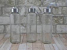 Стеклянная бутылка для воды 420мл ( стеклянная бутылка под логотип ), фото 2