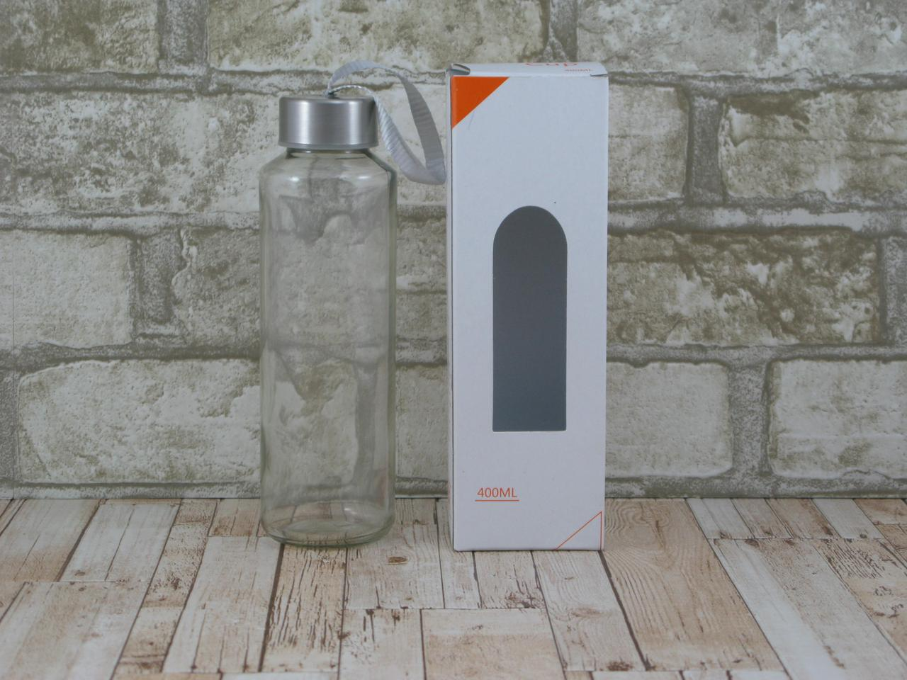 Стеклянная бутылка для воды 420мл ( стеклянная бутылка под логотип )