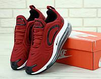 Кроссовки мужские Nike Air Max 720 яркие весенние стильные удобные (красные), ТОП-реплика, фото 1