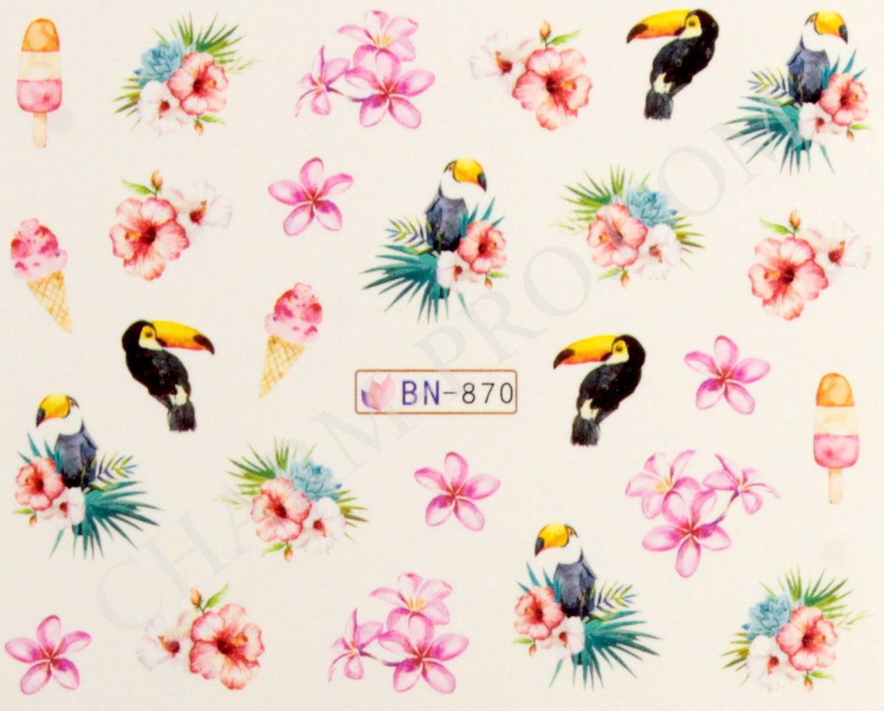 Дизайн Ногтей С Водными Наклейками Цветы