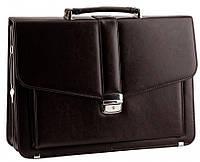 Классический мужской портфель из эко кожи AMO SST11 40х29х11-13 см.коричневый