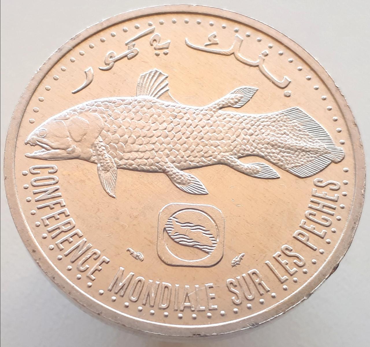 Коморские острова 5 франков 1992