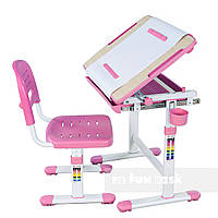 Детская парта-растишка и стул FunDesk Bambino, розовый, фото 1