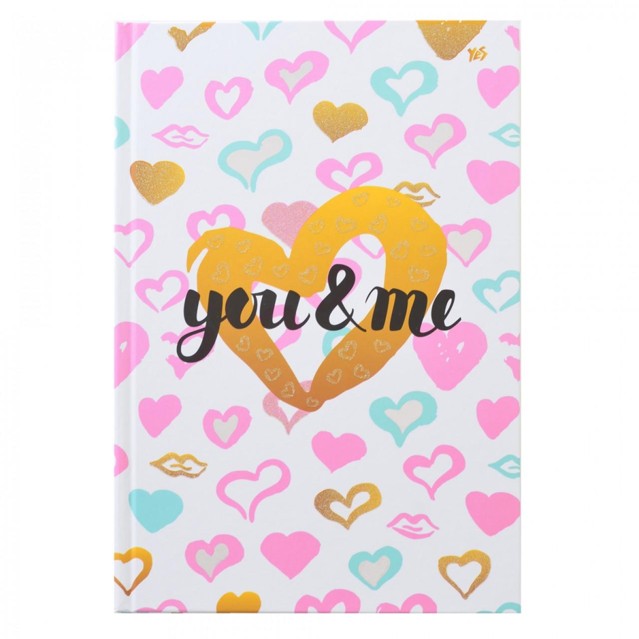 "Блокнот А4/160 7БЦ, фольга серебро, глиттер, мат.ламинация ""Love is…"" YES"
