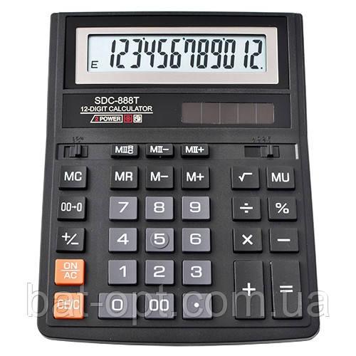 Калькулятор настольный SDC-888T, 12-ти разрядный