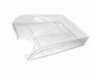 Лоток для паперу горизонтальний Economix, прозорий, 350х250х60 мм (E31804-00)