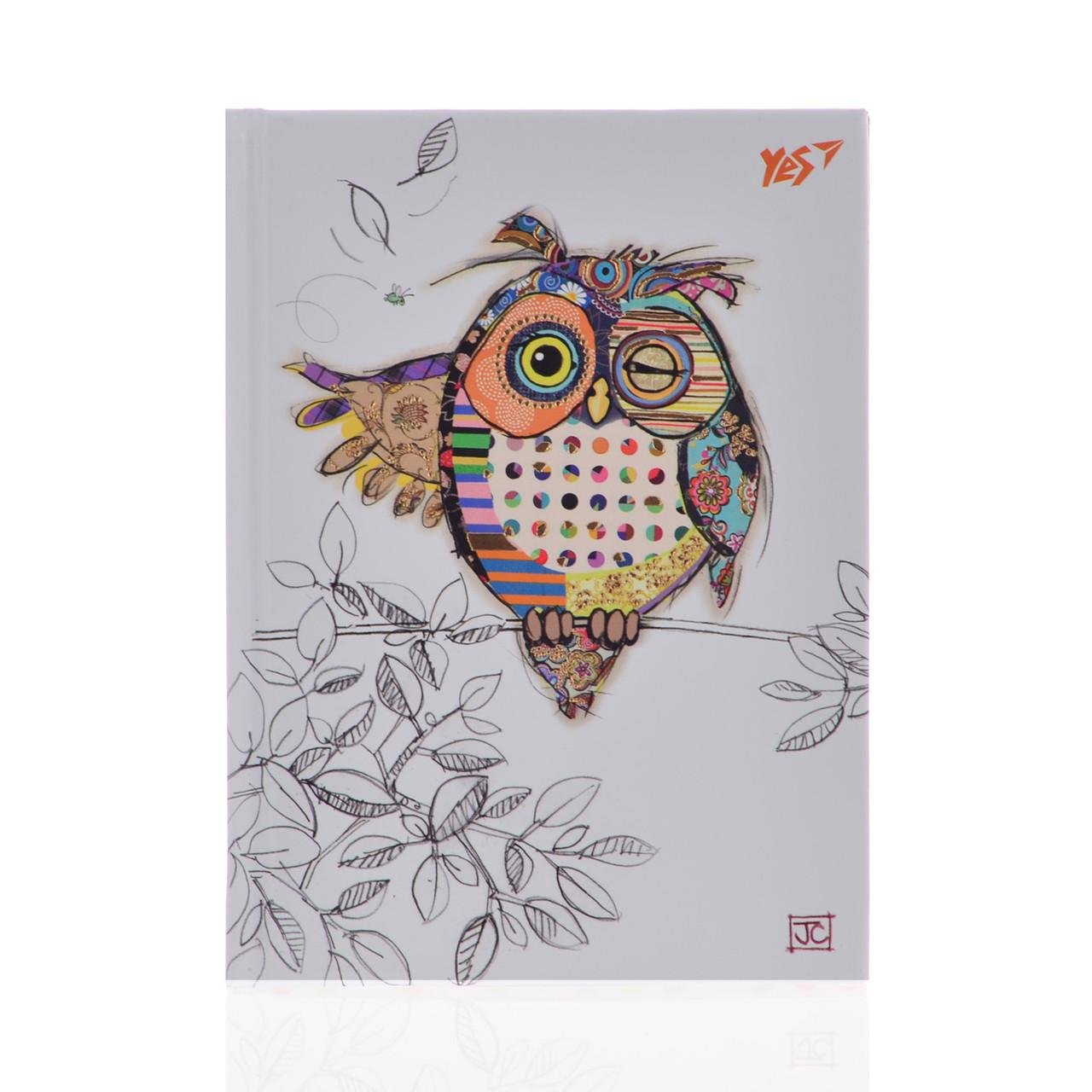 "Блокнот А6/64 КЛ. 7БЦ, фольга золото+Уф.выб. ""BugArt. White owl"" YES"