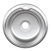 Кухонная мойка Platinum 510 Decor 0,6мм 18 круглая декорированная.