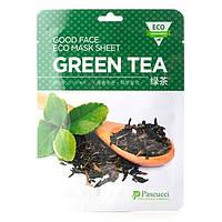 Маска для лица тканевая c экстрактом зеленого чая, Pascucci от Amicell