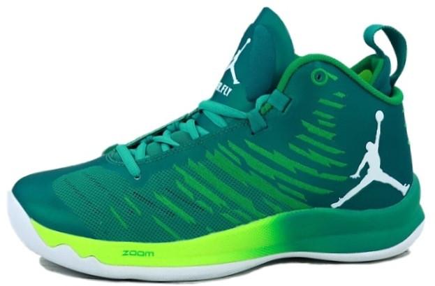 Баскетбольные кроссовки Nike Air Jordan (Premium-class) зеленые