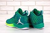 Баскетбольные кроссовки Nike Air Jordan (Premium-class) зеленые, фото 6