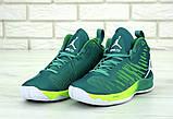 Баскетбольные кроссовки Nike Air Jordan (Premium-class) зеленые, фото 2