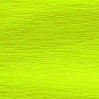Бумага гофрированная флуоресцентная желтая 20% (50см*200см)