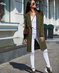 """Женское демисезонное кашемировое пальто """"VB"""" с карманами (8 цветов)"""