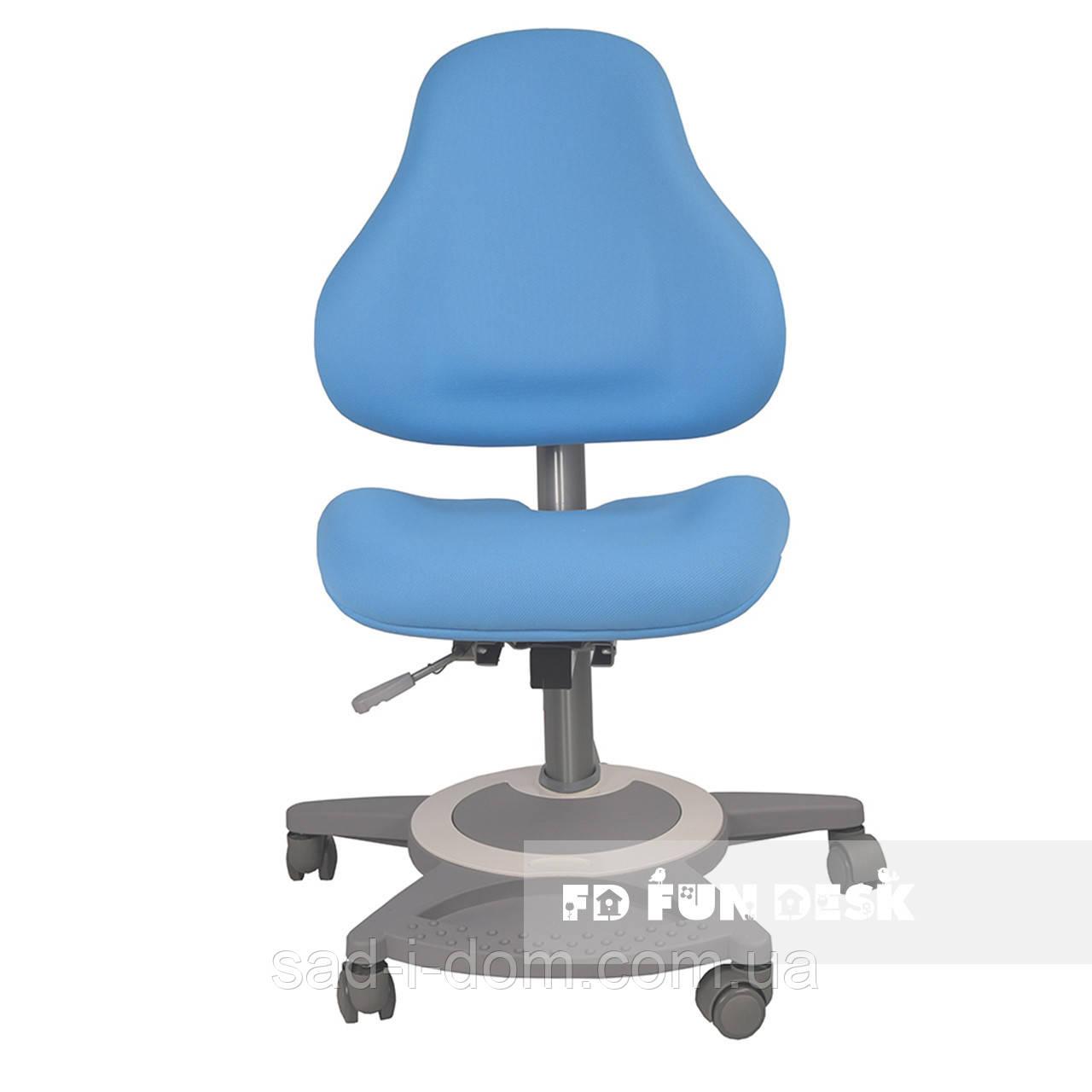 Детское ортопедическое компьютерное кресло FunDesk Bravo, голубое