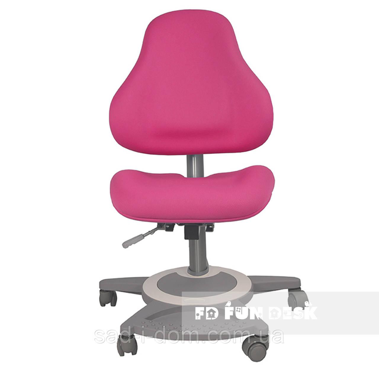 Детское ортопедическое компьютерное кресло FunDesk Bravo, розовое