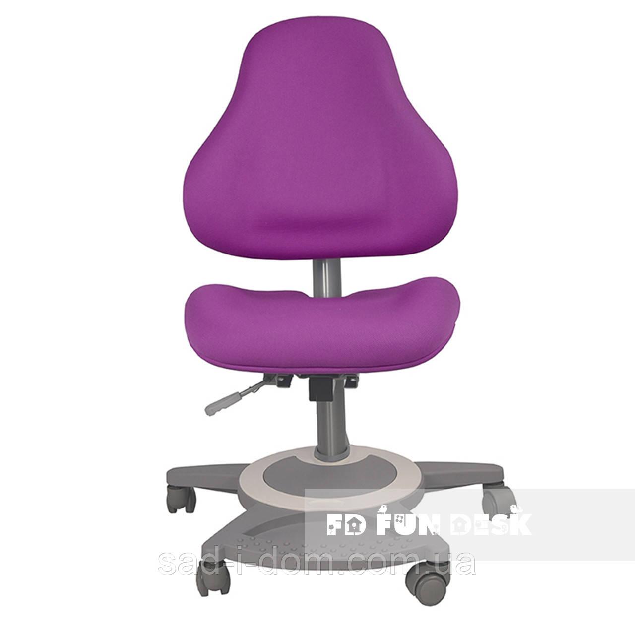 Детское ортопедическое компьютерное кресло FunDesk Bravo, фиолетовое