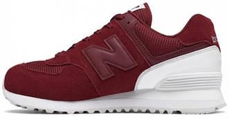 Женские кроссовки New Balance 574 (Premium-lux) красные
