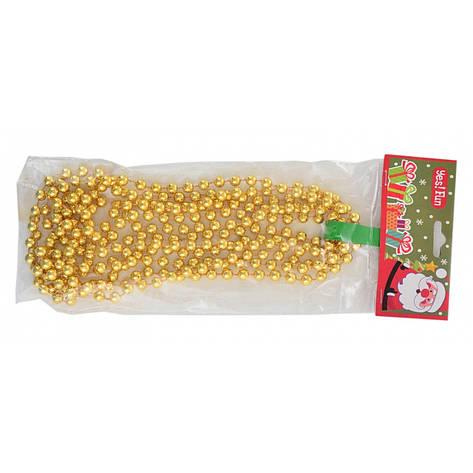 Бусы новогодние 8мм*3м, золото, фото 2