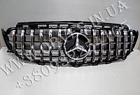 Решетка радиатора Mercedes E-class W213 стиль Panamericana Black/Chrome (под камеру)