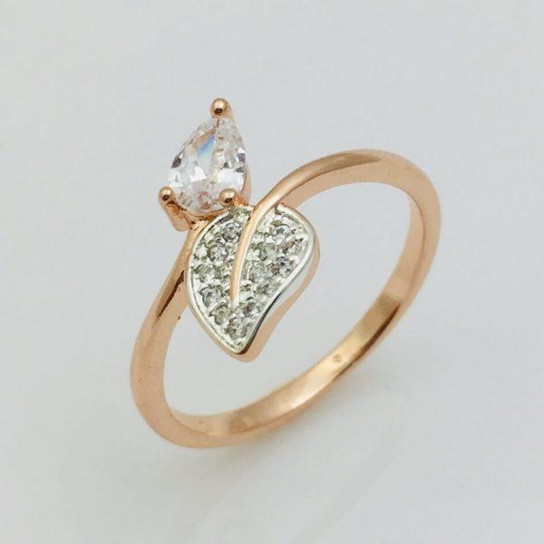 Кольцо Айрин, размер 20 позолота+ родий