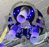 Люстра с подсветкой и пультом 81364/3BK+CR 350*200