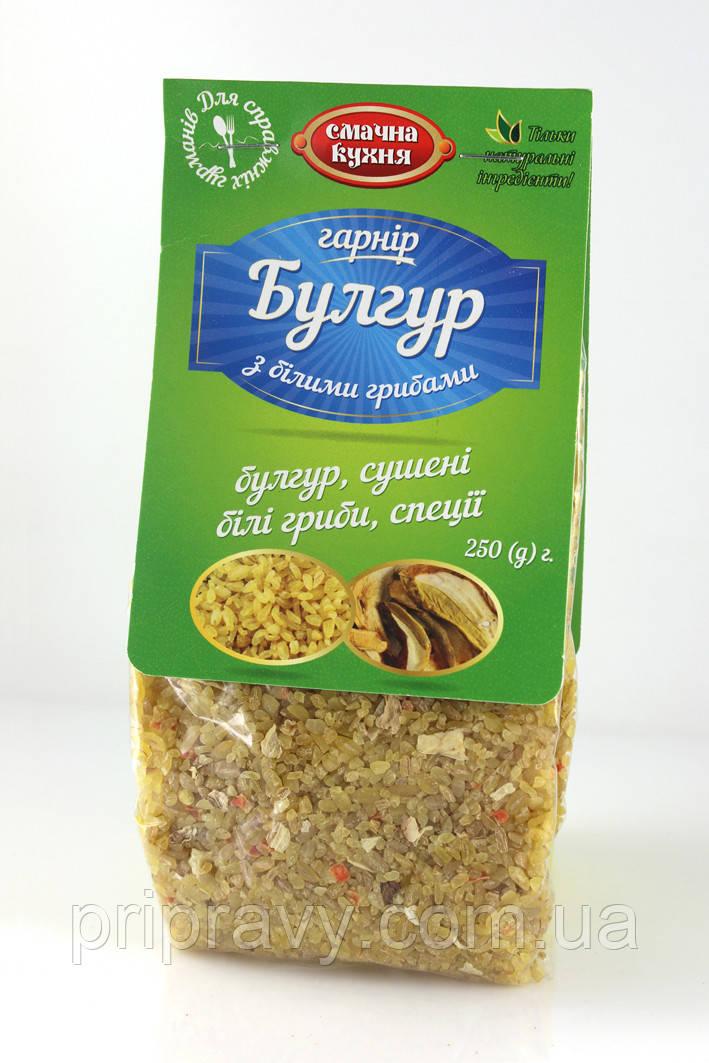 Гарнир  Булгур с белыми грибами и луком ТМ Смачна кухня, 135 г