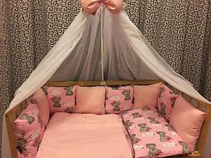 Балдахин с защитой в кроватку из 12 подушек