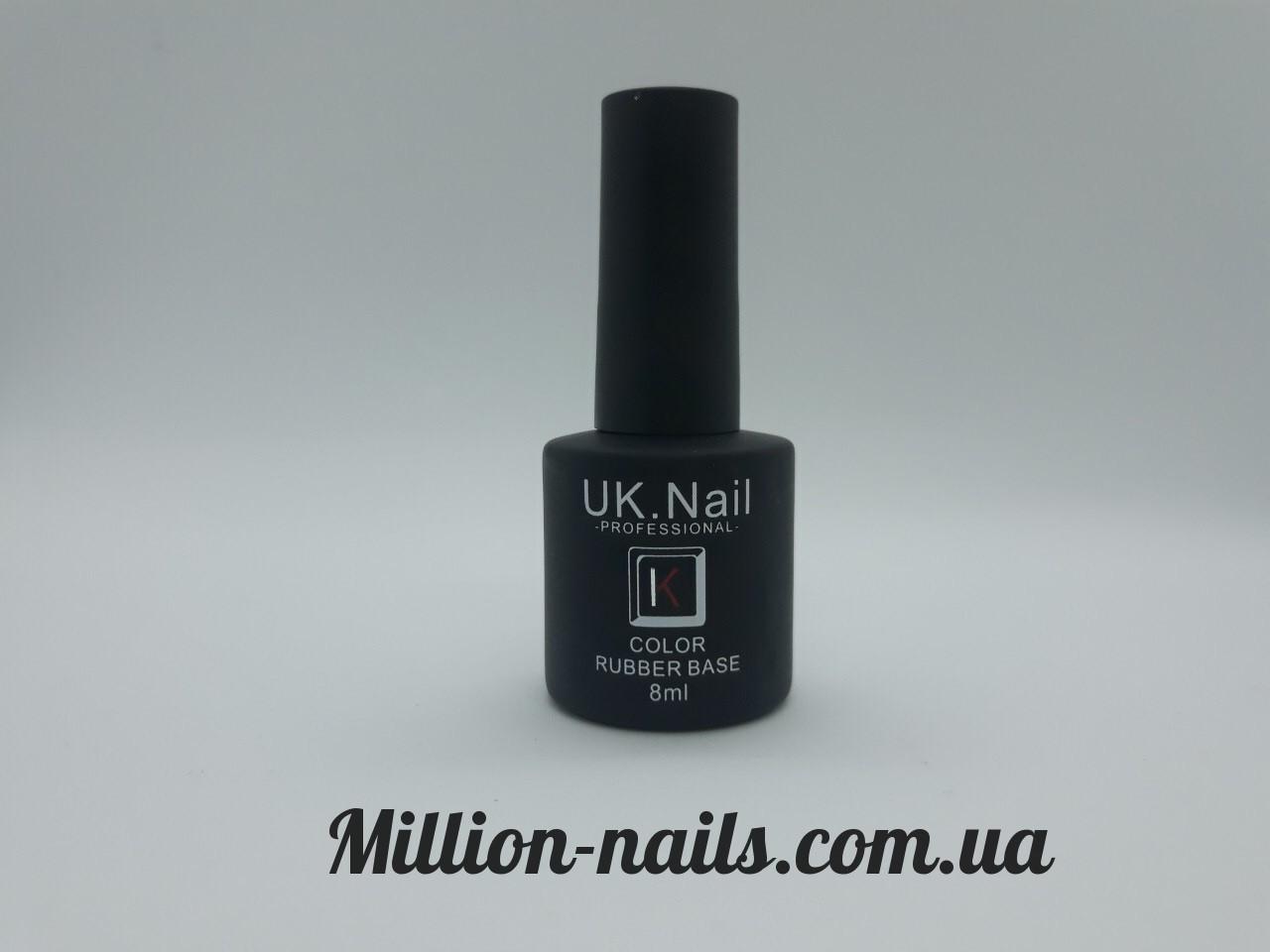 База для ногтей UK.Nail  Rubber Base 8 мл.