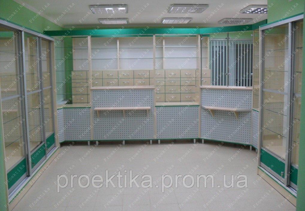 Меблі для аптек. Торгове обладнання для аптек