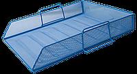 Лоток для паперу BUROMAX, синій, 335х275х78 мм (BM.6254-02)
