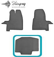 Ford Transit Custom 2012- Предний средний коврик Черный в салон