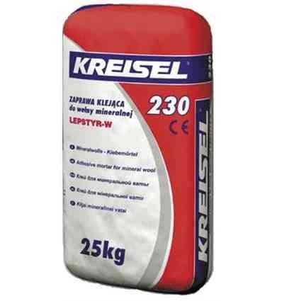 Kreisel 230 клей для приклеювання мінеральної вати 25кг