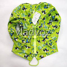 Детская демисезонная куртка ветровка на мальчика салатовая 1-2 года