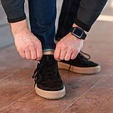 Мужские кроссовки South Loft black, классические замшевые кроссовки, мужские замшевые кеды , фото 2