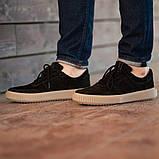 Мужские кроссовки South Loft black, классические замшевые кроссовки, мужские замшевые кеды , фото 3