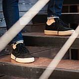 Мужские кроссовки South Loft black, классические замшевые кроссовки, мужские замшевые кеды , фото 6