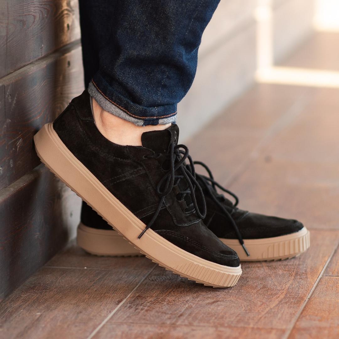 Мужские кроссовки South Loft black, классические замшевые кроссовки, мужские замшевые кеды