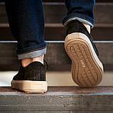 Мужские кроссовки South Loft black, классические замшевые кроссовки, мужские замшевые кеды , фото 7
