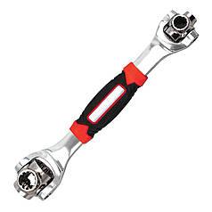 ϞКлюч гаечный Universal Wrench универсальный разводной 360 градусов поворот рабочей части 48 инструментов в 1